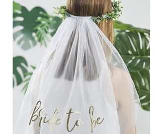 Bride To Be Botanical Veil