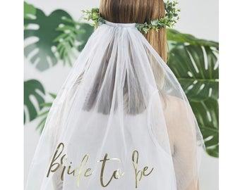 Bride To Be Botanical Veil