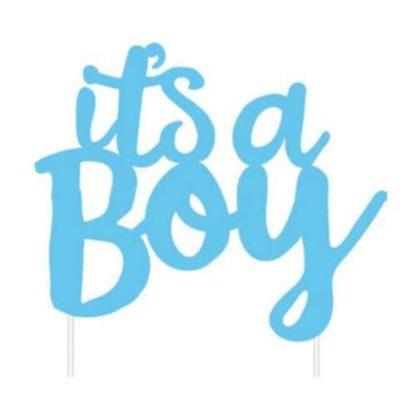 'It's a boy' Cake Topper
