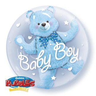 "Bubble Balloon 24"" Baby Boy Bear - Blue"