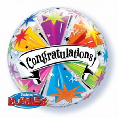 "Bubble Balloon 22"" Congratulations"