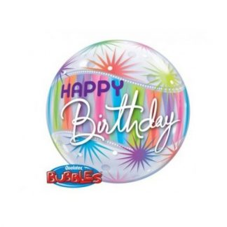 "Bubble Balloon 22"" Happy Birthday Starblast"