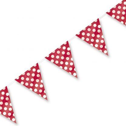 Bunting Flag Banner (Large) Polka Dot Red