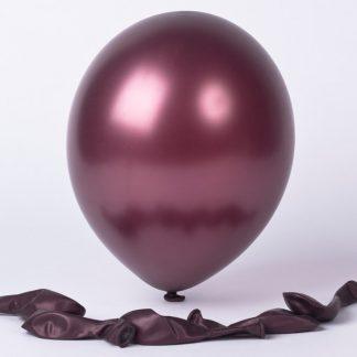 Balloon Single Metallic Burgundy