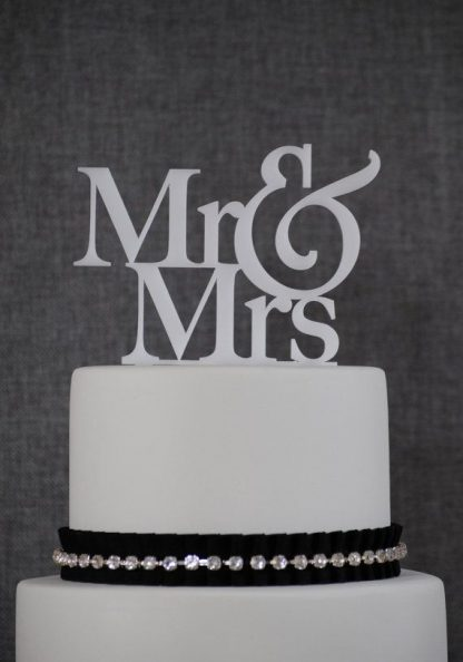 "Wedding Cake Topper ""Mr & Mrs"" - Black"