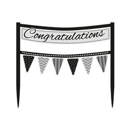 Cake Topper, Congratulations Banner