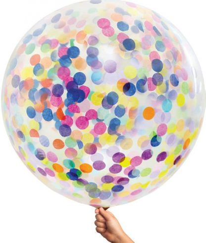 Large Single Confetti Balloon 90cm - Multi