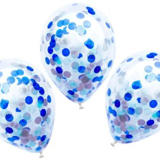 Confetti Balloons 3pk - Blue
