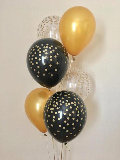 Balloon Single Gold Confetti
