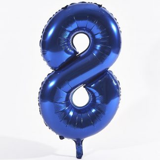"Foil Balloon Number Blue ""8"" (Uninflated)"