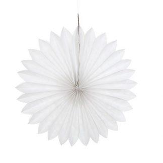 Tissue Paper Fan White - 40cm