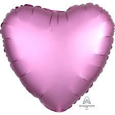 Foil Balloon Satin Luxe Flamingo Heart