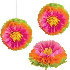 Flower Puff Ball 3pk