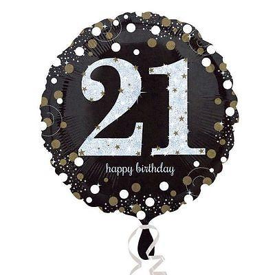 "Foil Balloon 18"" Happy 21st Birthday Sparkle"