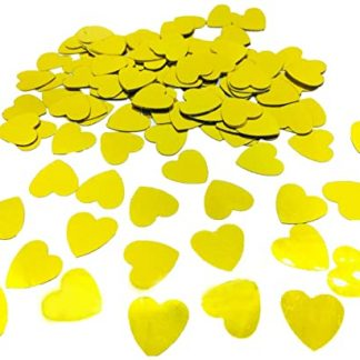Scatter Confetti Gold Hearts