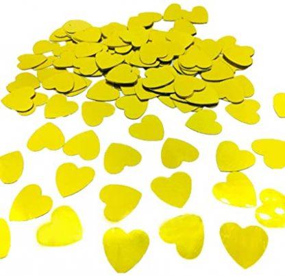 Scatter Confetti Gold Hearts
