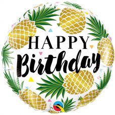"Foil Balloon 18"" Happy Birthday -Pineapple"