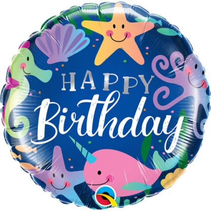 "Foil Balloon 18"" Birthday Fun Under the Sea"