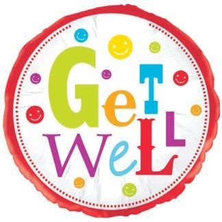 """Foil Balloon 18"""" Get Well"""