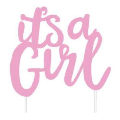 'It's a girl' Cake Topper