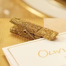 Glitter pegs - Champagne 6pk