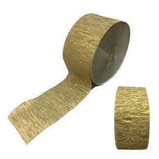 Crepe Streamers Shimmering Gold 6pk