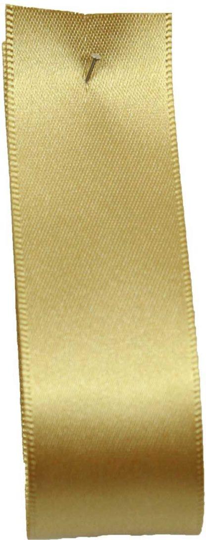 Wedding Car Ribbon 25m Gold Satin