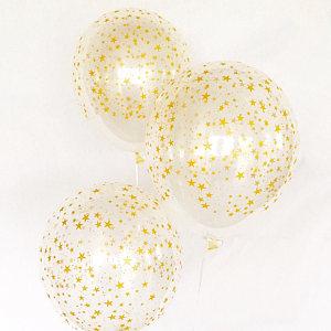 Balloon Single Gold Stars