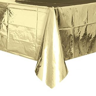 Foil Table Cover Rectangle - Metallic Gold