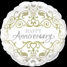 "Balloon Foil 18"" Anniversary Classic"