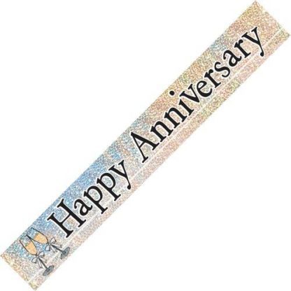Banner Happy Anniversary Prismatic