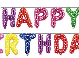 """Foil Balloon """"HAPPY BIRTHDAY"""" Banner Stars/Hearts *Air fill only*"""