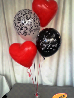 Helium Balloon Sets - Bunch of 4