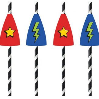 Superhero straws 20pk