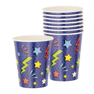 Superhero Party Cups 8pk