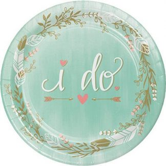 Mint To Be 'I Do' Plates