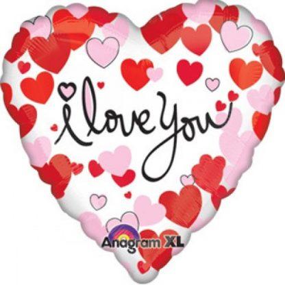 Foil Balloon I Love You Hearts