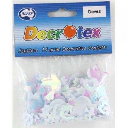 Scatter Confetti Doves iridescent