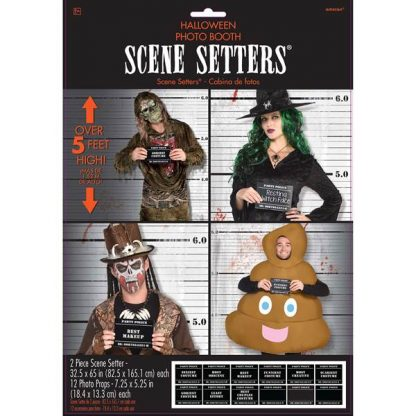 Halloween Photo Booth Props - Costume Line Up