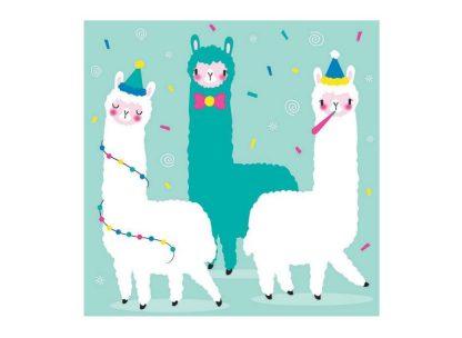 Llama Fiesta Napkins 20pk