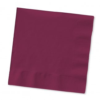Lunch Napkins 20pk - Maroon