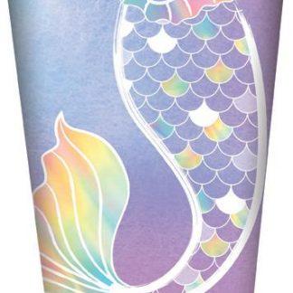 Mermaid Party Cups 8pk