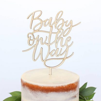 'Baby on the Way' Cake Topper