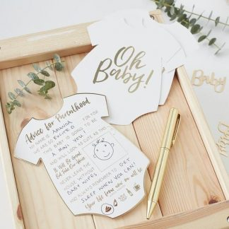 Gold Baby Advice Cards 10pk