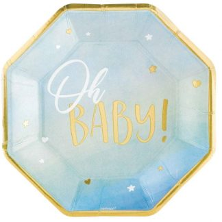 Oh Baby Plates - Blue