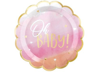 Oh Baby Plates - Pink