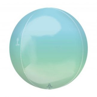 "Balloon Orbz 16"" Ombre Blue Green"