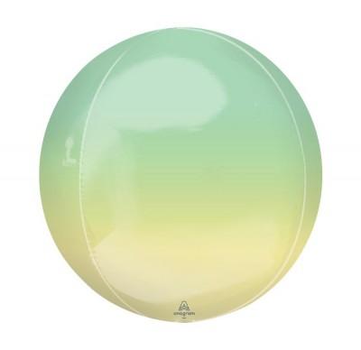 """Balloon Orbz 16"""" Ombre Yellow & Green"""