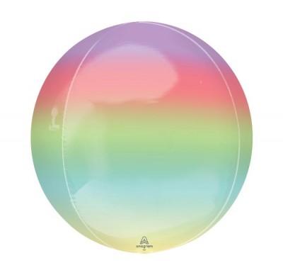 "Balloon Orbz 16"" Ombre Rainbow"