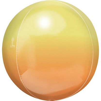 "Balloon Orbz 16"" Ombre Yellow Orange"